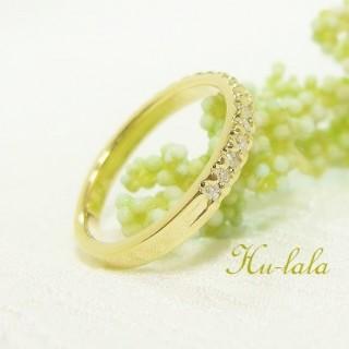 K18ダイヤ指輪リフォーム